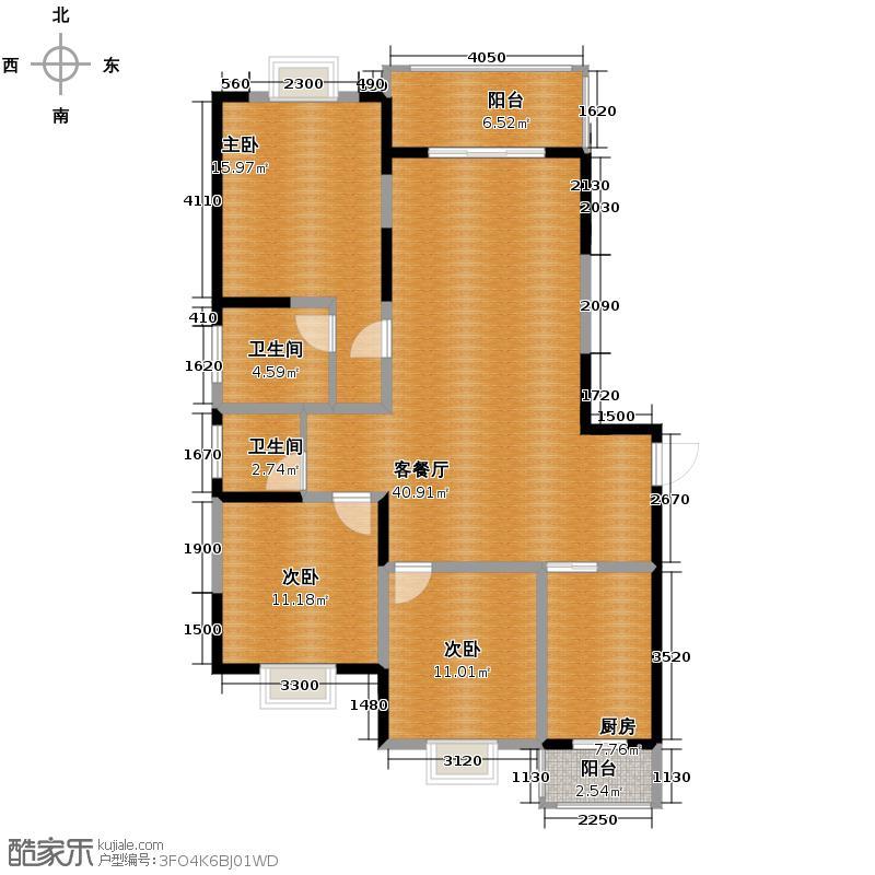 苏尚帝景115.64㎡C97M2户型10室