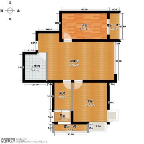 富达蓝山2室1厅1卫0厨65.45㎡户型图