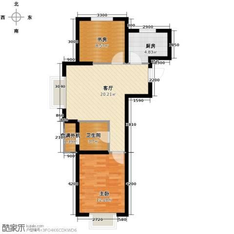 城建南郡2室2厅1卫0厨69.00㎡户型图
