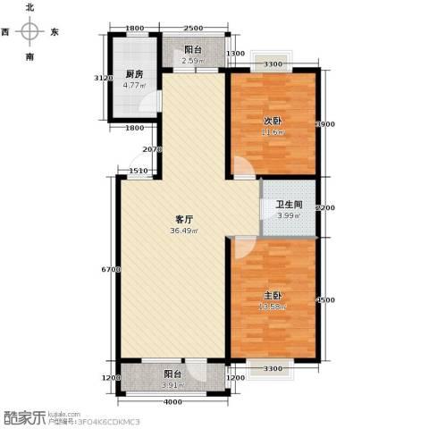 城建南郡2室2厅1卫0厨99.00㎡户型图