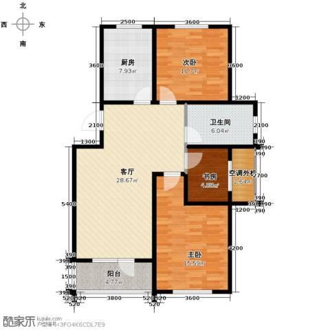富城铭邸3室2厅1卫0厨99.00㎡户型图