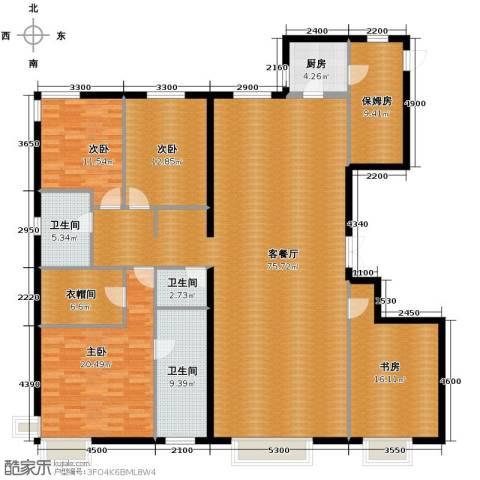 西美五洲天地5室2厅4卫0厨232.00㎡户型图