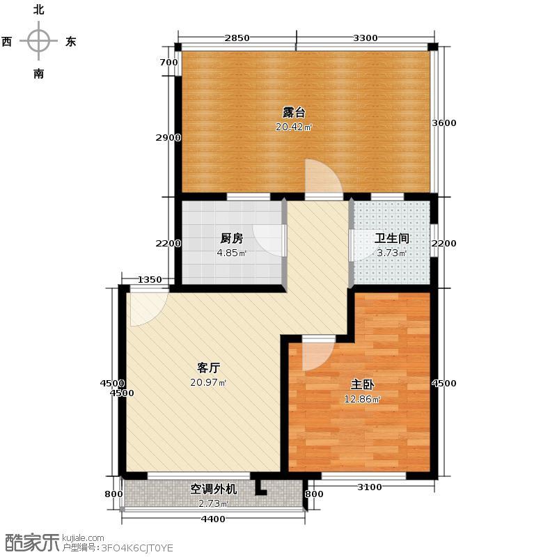 弘泽锦城60.40㎡户型10室