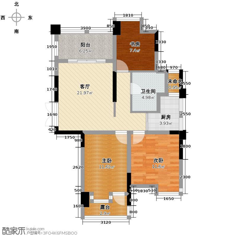 天阳观筑89.00㎡天阳・观筑户型3室1厅1卫1厨