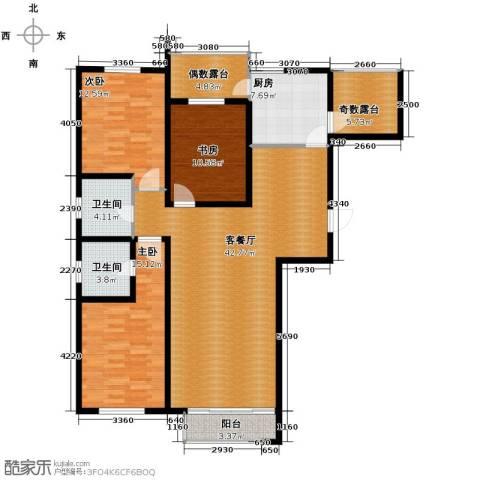 坤泰新界3室1厅2卫1厨133.00㎡户型图