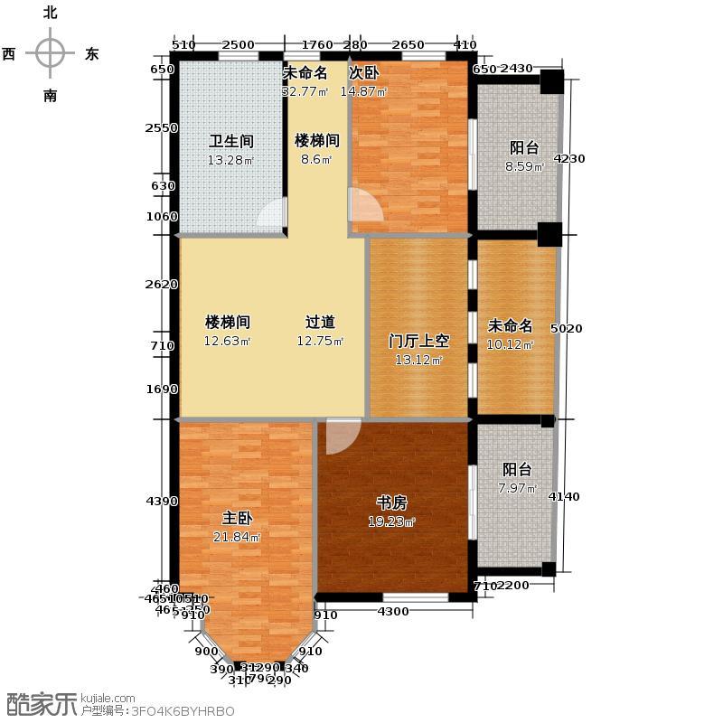 百家乐西园155.55㎡F二层户型10室