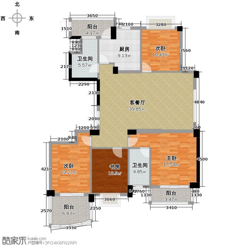 新中宇维萨156.06㎡1号楼偶数层户型4室2厅2卫