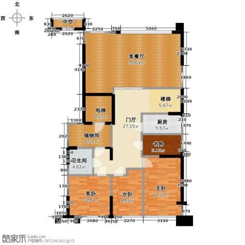 海威国际4室1厅1卫1厨168.00㎡户型图
