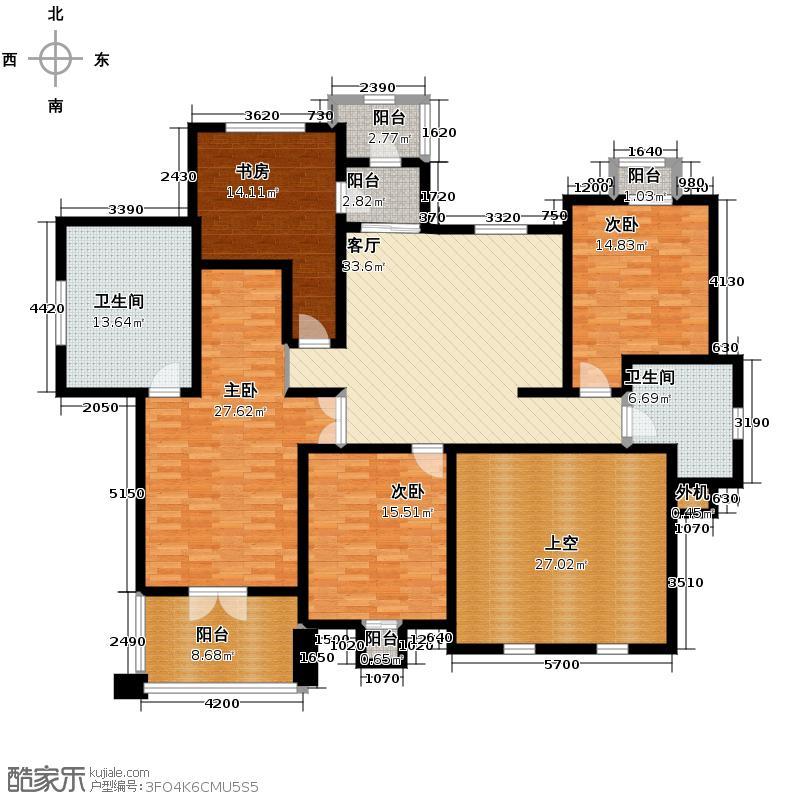 半岛世家145.26㎡二层户型10室