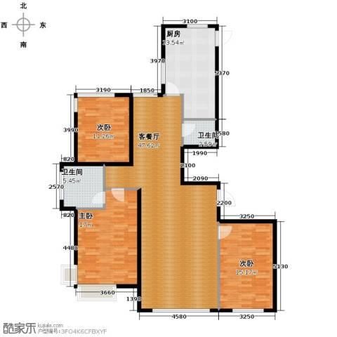左岸慧晶峰境3室2厅2卫0厨155.00㎡户型图