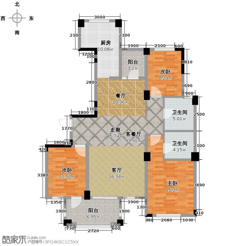 翡翠城113.29㎡户型10室