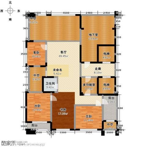 海威国际3室1厅1卫0厨347.00㎡户型图