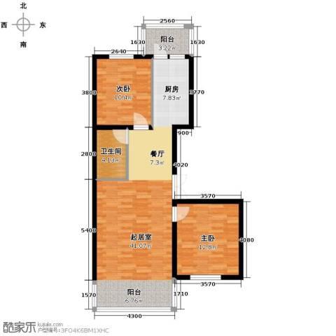 悦城2室2厅1卫0厨101.00㎡户型图
