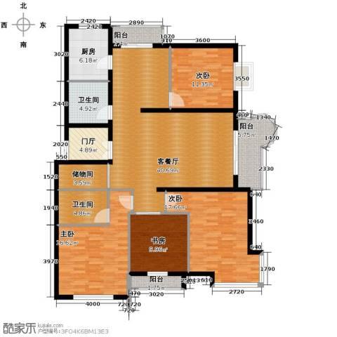 悦城4室1厅2卫1厨130.63㎡户型图