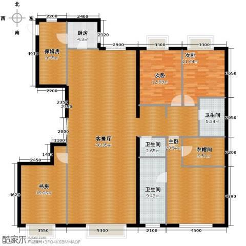西美五洲天地4室2厅3卫0厨232.00㎡户型图