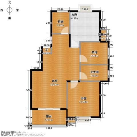 小骆花园3室1厅1卫1厨104.00㎡户型图