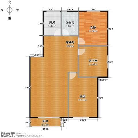 塞纳家园2室1厅1卫1厨109.00㎡户型图