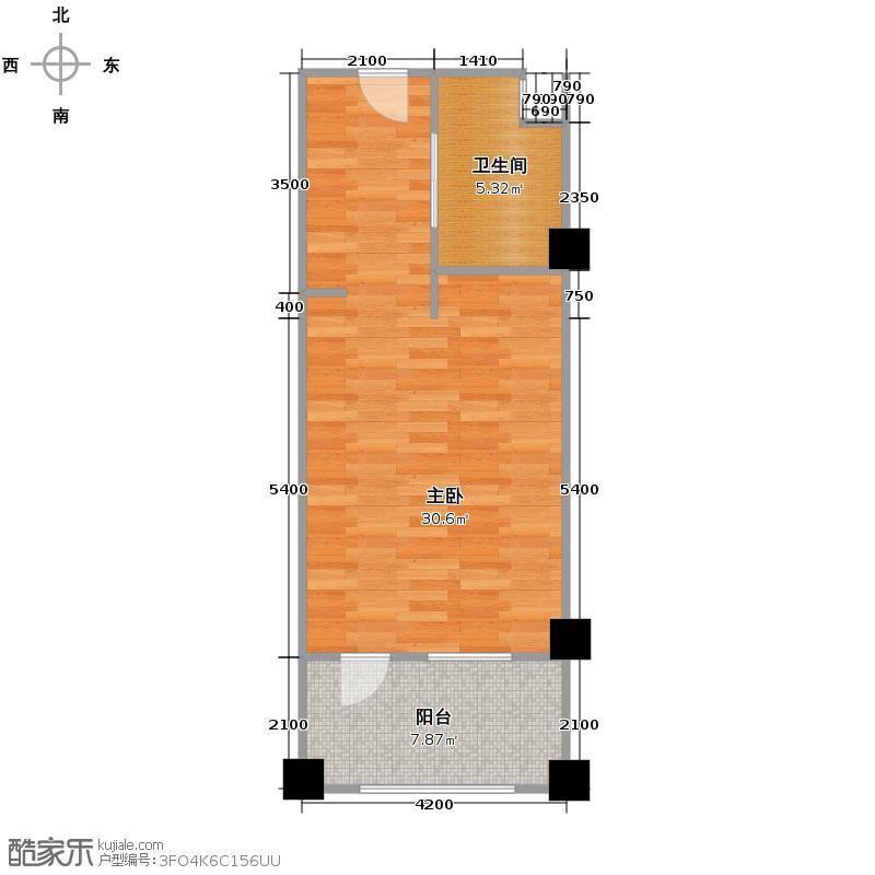 绿城蓝庭60.00㎡颐养公寓D户型10室