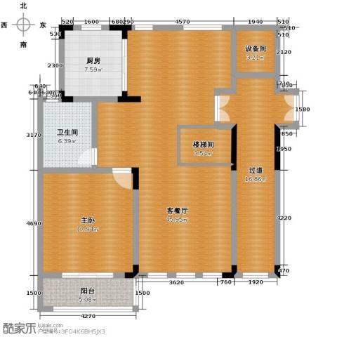 凤凰山庄1室2厅1卫0厨106.57㎡户型图