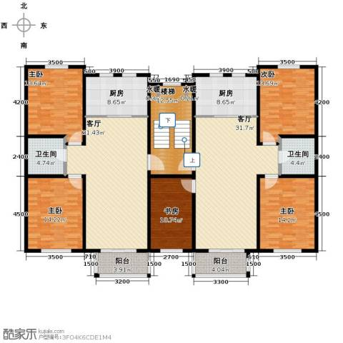 名仕雅居2室2厅1卫0厨177.07㎡户型图