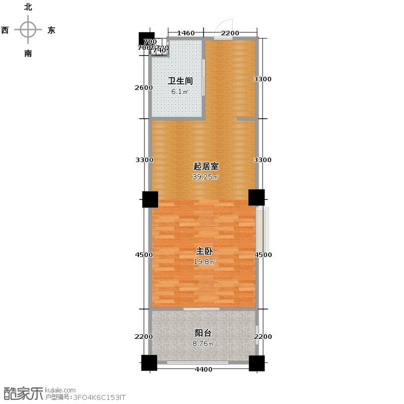 绿城蓝庭83.00㎡颐养公寓F户型10室