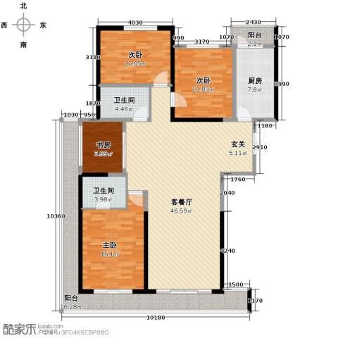领先国际4室2厅2卫0厨173.00㎡户型图