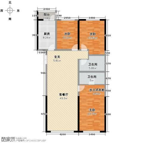 领先国际4室2厅2卫0厨154.00㎡户型图