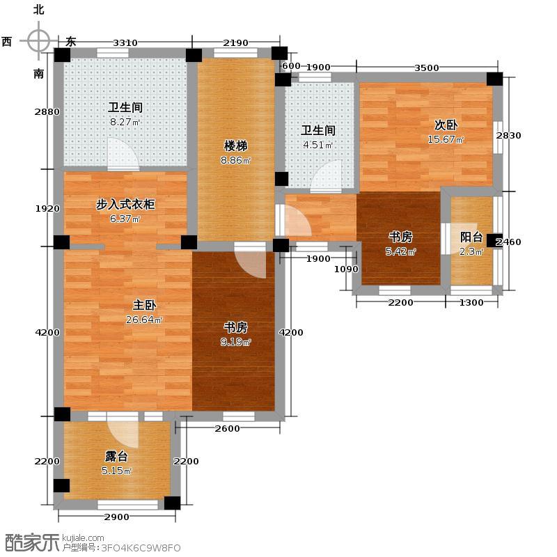 碧桂园凤凰城255.00㎡三层-八联排别墅-户型10室