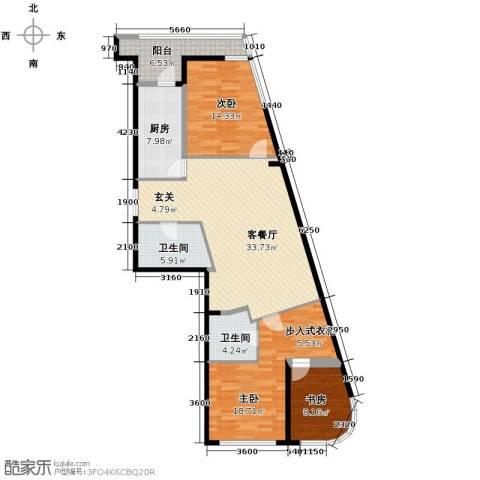 领先国际3室2厅2卫0厨149.00㎡户型图