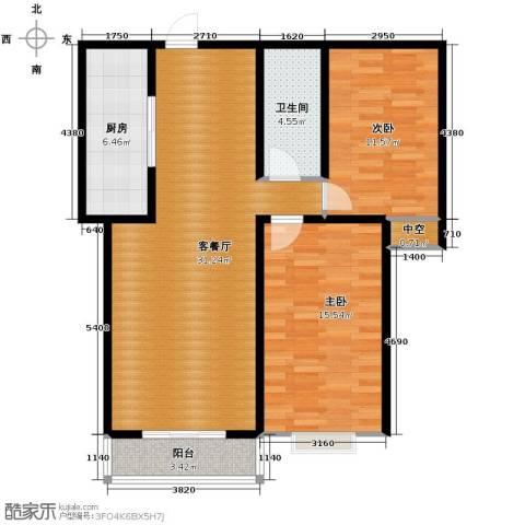 裕馨城二期2室2厅1卫0厨98.00㎡户型图