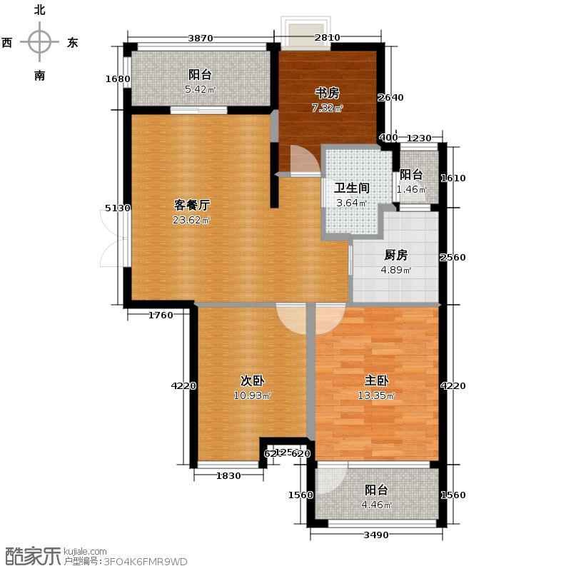 天阳观筑84.73㎡户型3室1厅1卫1厨