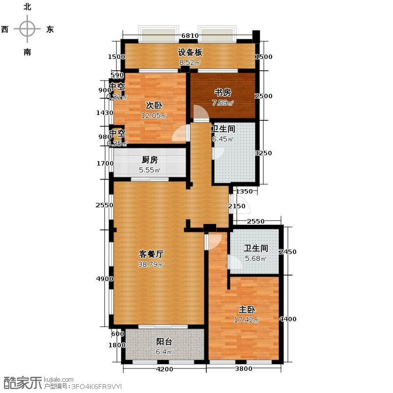 绿城西溪诚园159.00㎡精装商务公馆C2户型3室2厅2卫