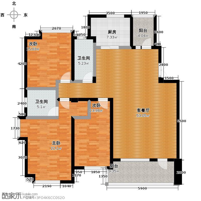 保利海上五月花155.00㎡Ca/3户型3室2厅2卫