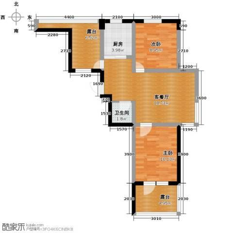 乐城2室1厅1卫0厨67.00㎡户型图