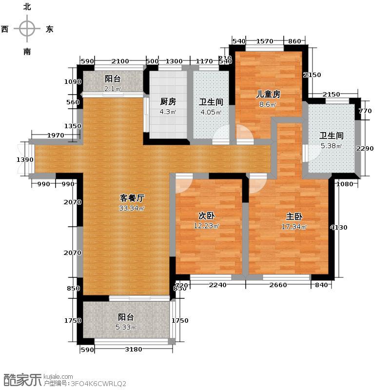 天正天御溪岸138.00㎡C1户型3室2厅2卫