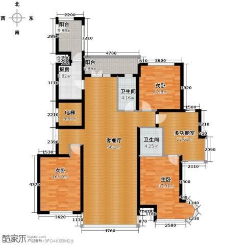 悦城2室2厅1卫0厨204.00㎡户型图