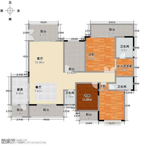 广州星河丹堤3室1厅3卫1厨194.00㎡户型图