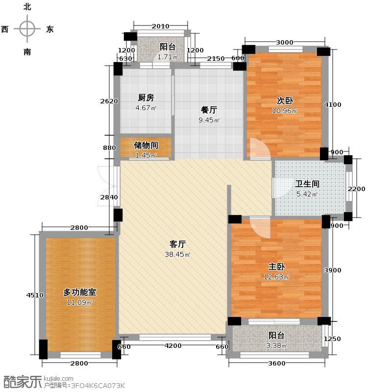 米拉晶典112.00㎡房型户型10室