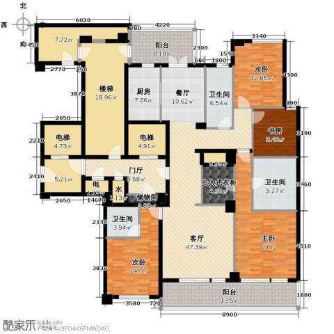 新华园4室2厅3卫0厨211.79㎡户型图