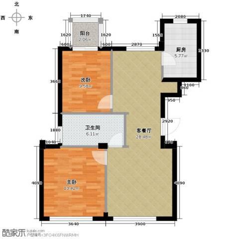 新华园2室2厅1卫0厨90.00㎡户型图
