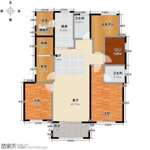 青鸟中山华府3室2厅2卫0厨138.00㎡户型图