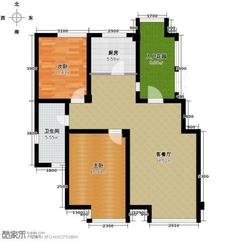 坤泰新界2室1厅1卫1厨116.00㎡户型图