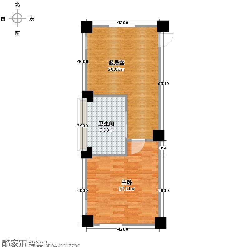 绿城蓝庭74.00㎡颐养公寓A户型10室