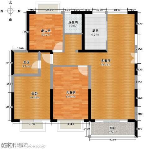 嘉逸岭湾135.00㎡户型图