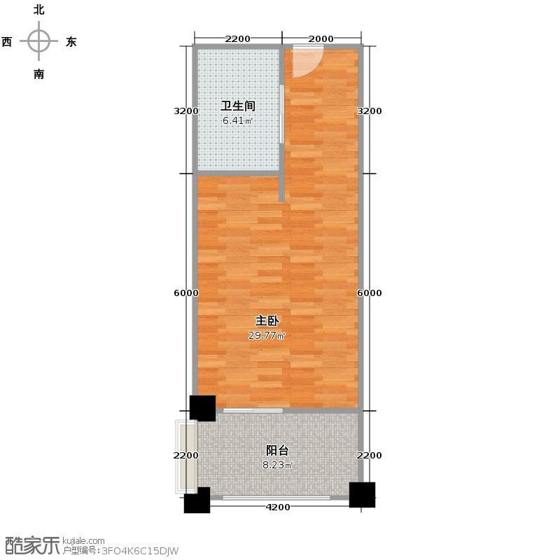 绿城蓝庭67.00㎡颐养公寓B户型10室