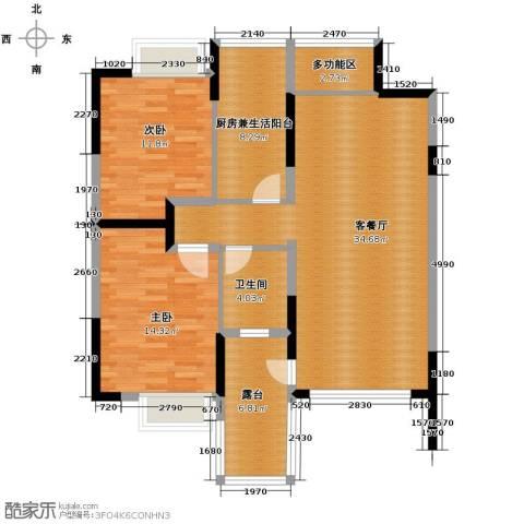 里水第一城2室2厅1卫0厨82.67㎡户型图