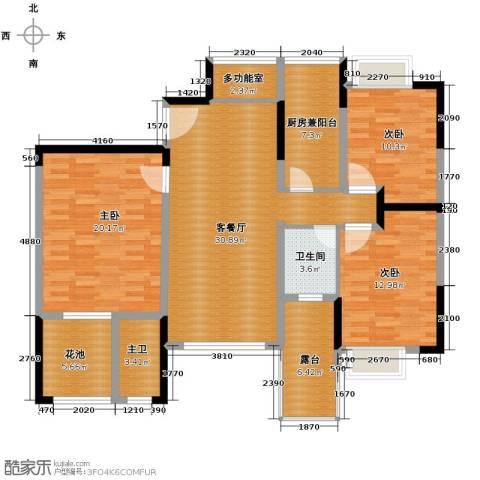 里水第一城2室2厅2卫0厨117.00㎡户型图