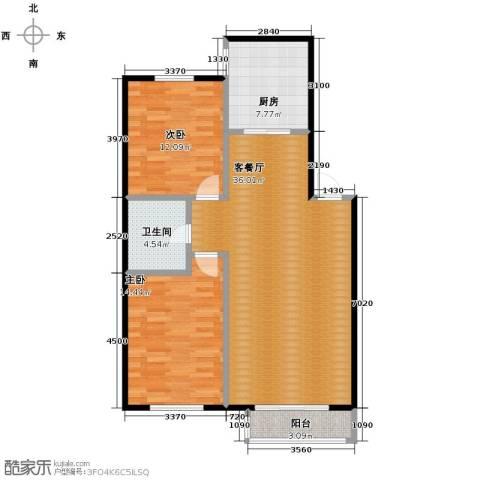 塞纳家园2室1厅1卫1厨94.00㎡户型图