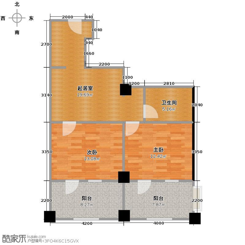 绿城蓝庭102.00㎡颐养公寓C户型10室