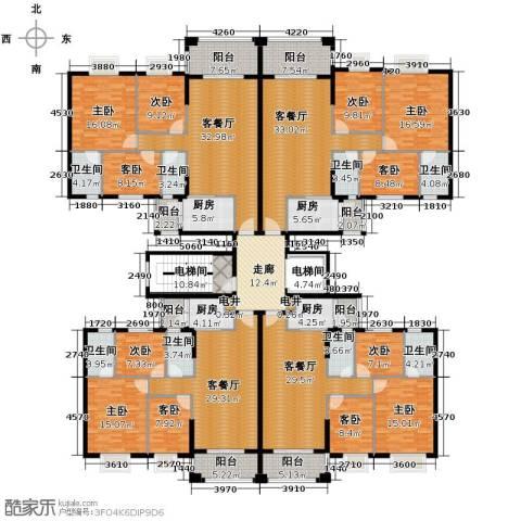 丽南名都9室4厅8卫4厨519.00㎡户型图